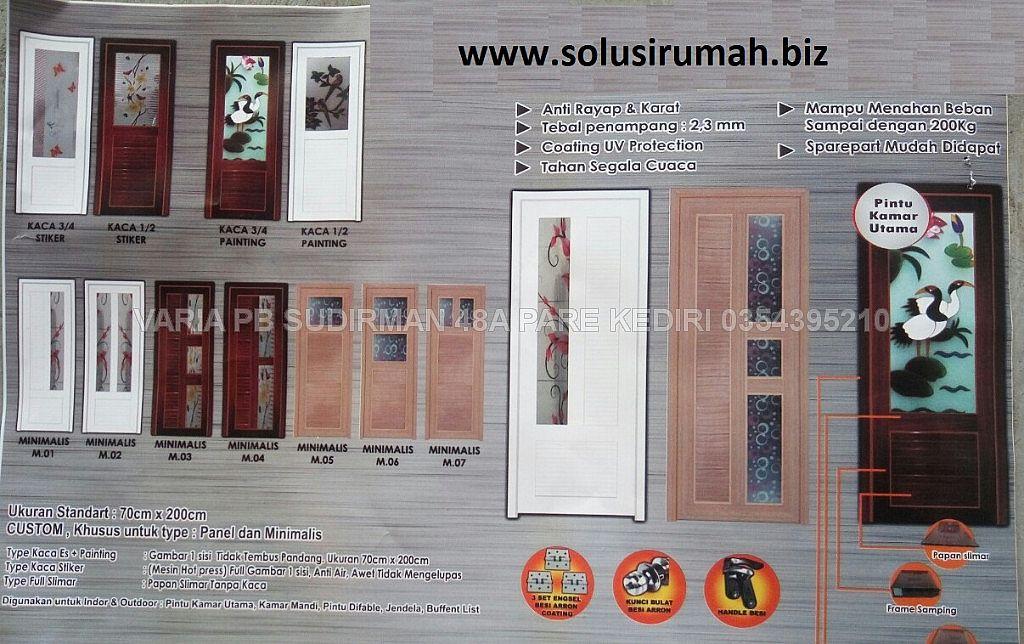 Pintu Aluminium Tebal Pintu Interior Aluminium Pvc Kaca Pintu